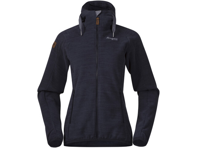 Bergans Hareid Fleece Jacket Dame dark navy melange